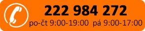 Tel: 222 984 272 (po-čt 9:00-19:00, pá 9:00-17:00)